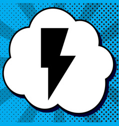 lightning sign black icon in vector image