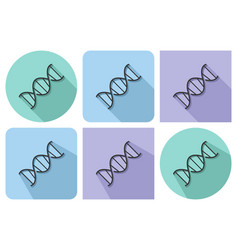line icon of dna with parallel and not parallel vector image