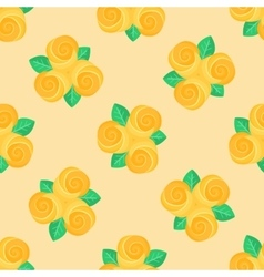 Little yellow rose seamless background vector image