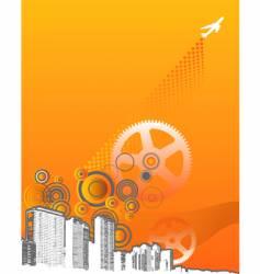 machine grunge city vector image