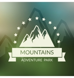 Mountain landscape background Outdoor vector