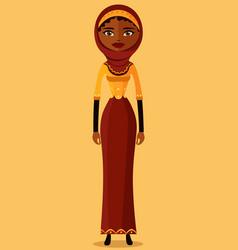 muslim arab iran business woman vector image