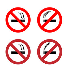 No smoking sign icons set vector