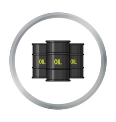 Oil barrel icon in cartoon style isolated on white vector image