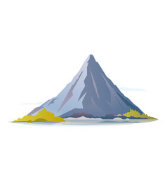 One high mountain vector