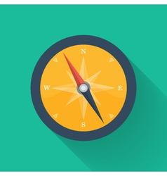 Orange compass circle icon vector image