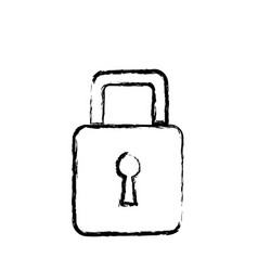 padlock security information technology data vector image