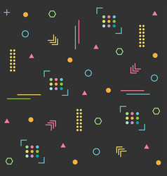 pattern hipster abstract background vector image
