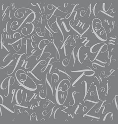 pattern of modern hand written alphabet vector image