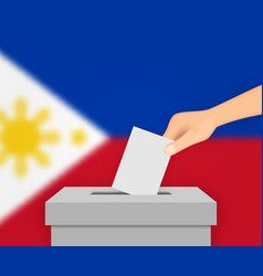 Philippines election banner background vector