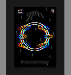 Poster for art exhibition or music event vector