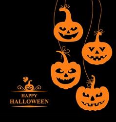 pumpkin card orange vector image