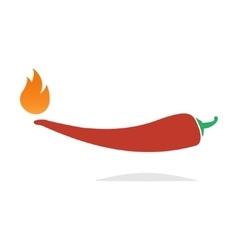 Red hot chili pepper icon vector