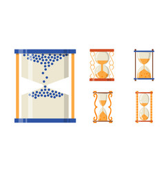 sandglass icon time flat design history second old vector image