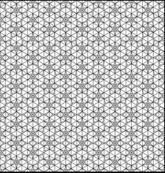 Seamless pattern based on kumiko style in black vector