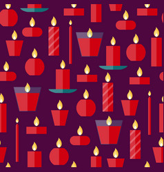 seamless pattern of a candles vector image