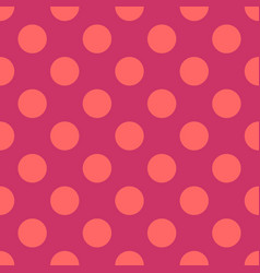 seamless pattern with neon pink polka dots vector image