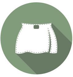 Skirt icon a long shadow vector