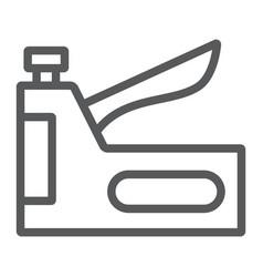 Staple gun line icon tool and repair vector