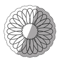 sticker monochrome contour with circular strokes vector image