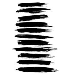 strokes lines paint dab stripes set vector image