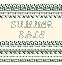 Summer sale inscription and decorative rope border vector