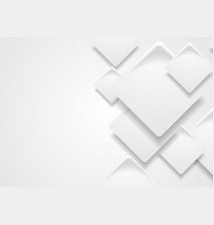 Tech corporate paper grey squares background vector