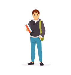 Teenager student vector