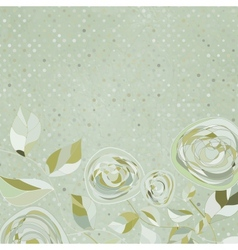 template floral background vector image