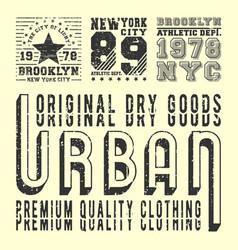 vintage t-shirt print stamp for t shirts applique vector image