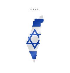 Waving flag map israel vector