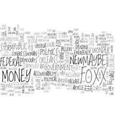 Where money politics meet text word cloud concept vector