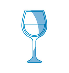 Wine cup isolated vector