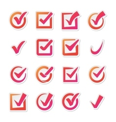 Check box icons set vector image vector image