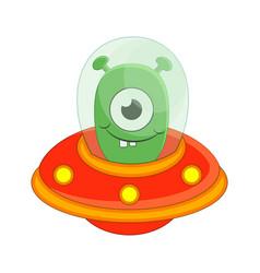 cute cartoon alien isolated on vector image