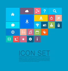 flat set of icons vector image vector image