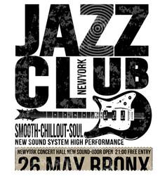 jazz club concert music poster design tee graphic vector image