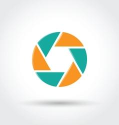 Camera shutter symbol vector image