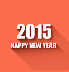 modern simple happy new year card 2015 vector image vector image