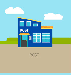 colored urban post building vector image