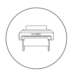 large format printer icon in outline style vector image