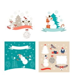 New Year design elements set vector image vector image