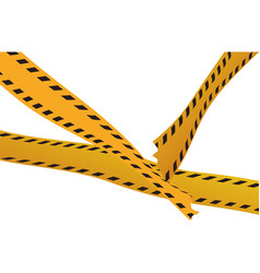 police yellow tape vector image