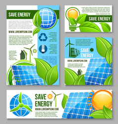 save energy business banner template design vector image vector image