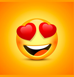smiling face emotions love happy eyes vector image