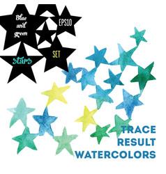 watercolor stars vector image vector image