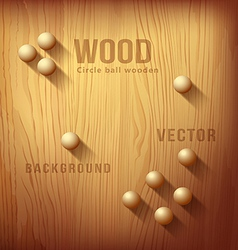 Wood texture realistic and circle designs ball vector image vector image