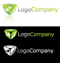 Abstract Corporate Compnay brand icon logo vector image vector image