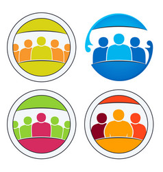 community of people together vector image