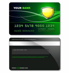credit card template vector image vector image